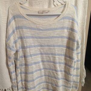Lightweight Soft Striped Sweater